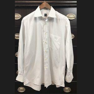 Ike Behar New York Mens Button Down Dress Shirt